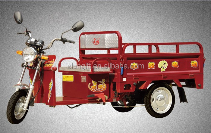 Fengshou farmer used open body cargo electric tricycle/3 wheels electric cargo bike prices/china three wheel motorcycle