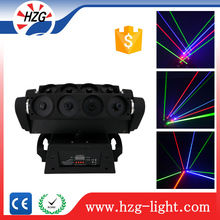Disco DJ NightClub laser show 8pcs *10W RGB Moving Head Spider Beam Laser Light