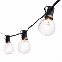 25feet Globe String Lights with G40 Bulbs,Connectable Outdoor Garden Party Patio Hanging Lamp lights