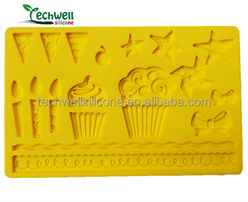 100% food grade silicone fondant mold for cake decorating products