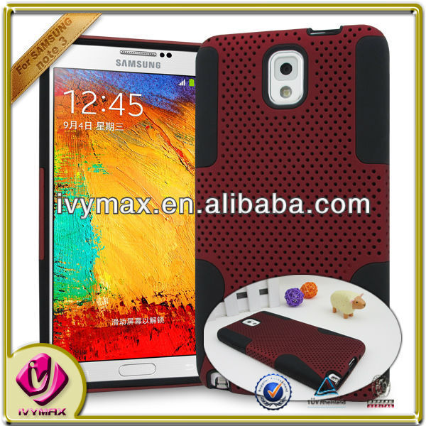 ivymax mobile phone case factory for samsung galaxy note 3 case