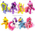 OEM MINI Cute Horse happy meal toy plastic little pony