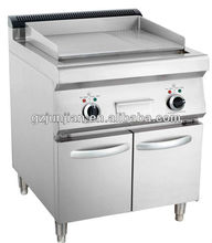 Gas Griddle With Cabinet (2/3 Flat & 1/3 Grooved) , stainless steel flat plate gas grill griddle