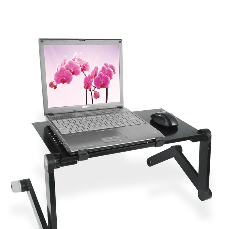 Hot sale cheap adjustable height metal folding laptop computer desk