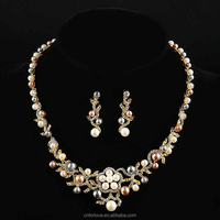 Gold 24 carat necklace and 1 gram gold necklace wholesale,pure gold necklace designs wedding jewellery for bridal W0071