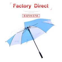 promotion blue windproof golf custom logo colour changing backpack umbrella