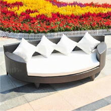 Patio Wicker Waterproof Furniture Garden Beach Sofa Bed Rattan bali Outdoor chaise Lounge