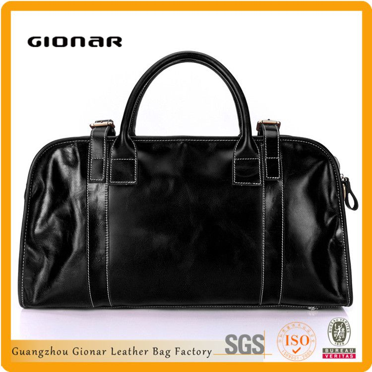 Hot Selling New Products Handmade Black Genuine Italian Leather Doctor Bag
