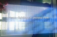 high transparancy LED glass display/ transparent advertising P20 LED display curtain/ Nichia LED background,shopwindow