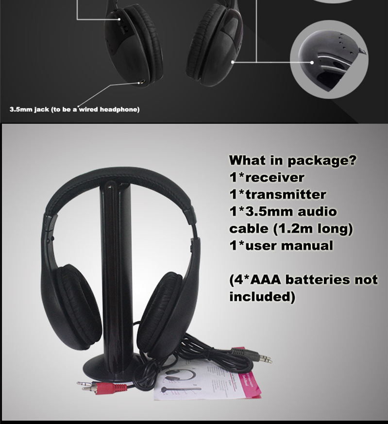 Wholesale Consumer Electronics Foldable Noise Cancelling Wireless Headphone with FM Radio
