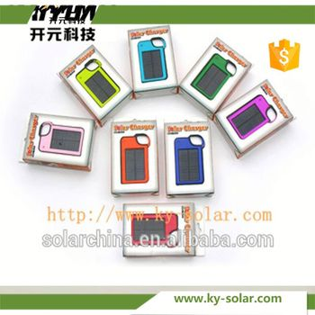 Hook-type solar mobile phone charger