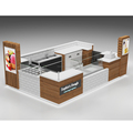 Newest mall food kiosk design roller cake display stand for sale