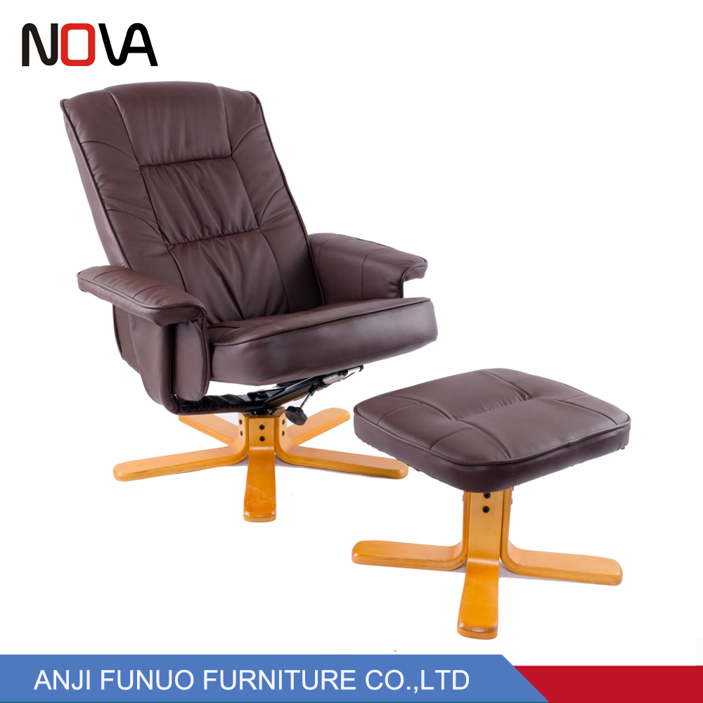 high leather com computer office dp reclining armchair chair recliner happybuy managerial back exectuive swivel footrest with adjustable ergonomic amazon pu