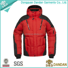 High quality mens warm wear plus size winter ski & snow jacket
