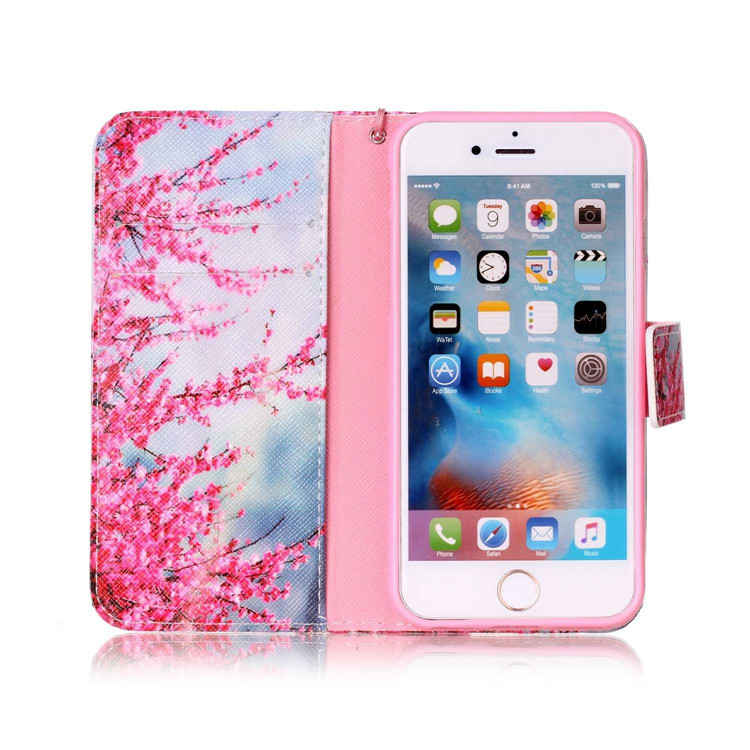 Flower Leather Case For Iphone 6S Print Phone Cover
