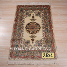 Factory direct sale 2.5*4ft 100% handmade persian silk qum rugs and carpets