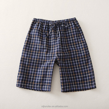 Wholesale men sexy short pajamas shorts for sleepwear,yarn dye seersucker shorts
