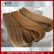 Hot Selling Double Drawn Russian Remy Hair Extensions Honey Blonde Remy Hair Weave Brazilian Deep Curl Hair Weaving