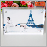 clear acrylic square magnetic photo frame/lucite plexiglass picture frame