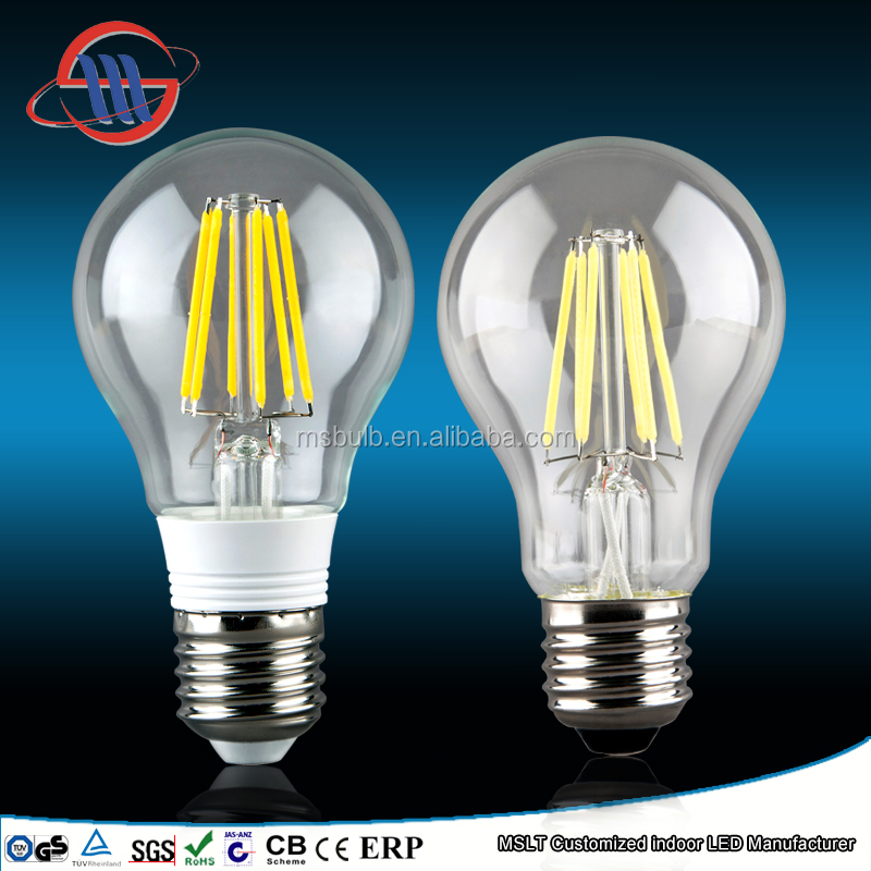 CE ROHS TUV approved China A60 LED bulb plastic, A60 filament bulb, A60 led soft white