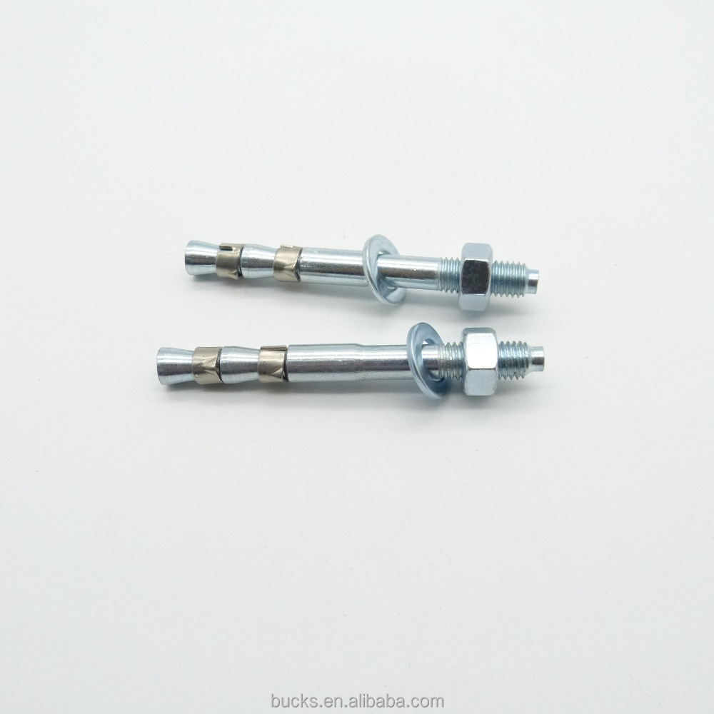 hardware fastener bolt manufacture supplier double loop blue white zinc wedge anchor