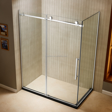 Simple Frameless Tempered Glass Sliding Door Italian Style Cheap Price Shower Cabin