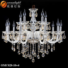 New led patriot lighting products material parts for chandeliers chandelier metal ring OMC028-10+4W