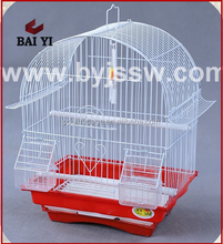 Fashion Pretty Metal Bird Cage Decorative With Plastic Feeders Wholesale