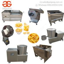 Industrial Small Scale Finger Potato Crisps Frying Frozen French Fries Making Machine Potato Chips Production Line