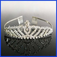 Trendy Braidal Tiara Wedding Hair Crown Crystal Pageant Princess Crowns for Girls