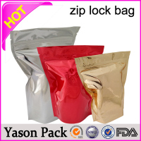 Yason ziplock medicine envelop seal standing erect packaging printing stand up foil ziplock pouch zipper herbal incense bag