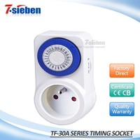 Home use lighting controing plug 24 hour mini mechanical timer popular in France market
