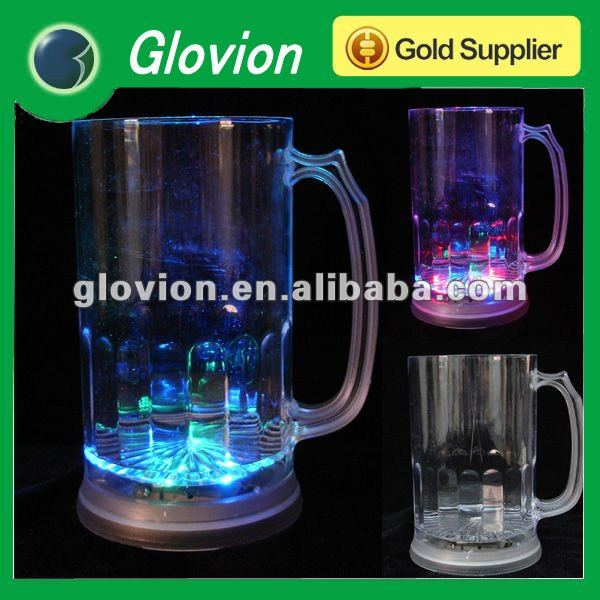 HOT Sale LED flashing cup for party Color-changing drinking cup big funny glasses