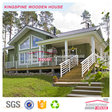 Two-floor 5-bedroom design Wooden home prefab Log House 255.7 m2 KPL-071