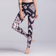 Wholesale Tight Women's Colorful Power Flex Yoga Pants Workout Running Leggings