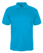 180gsm 60% Cotton 40% Polyester Men's Aero Polo T Shirt 2016 New Style - Promotion/Sports/Retail -CYAN