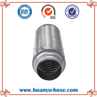 universal steel turbo downpipe exhaust flex pipe
