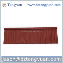 High Quality Ceramic Stone Coated steel spanish clay roof tile factory