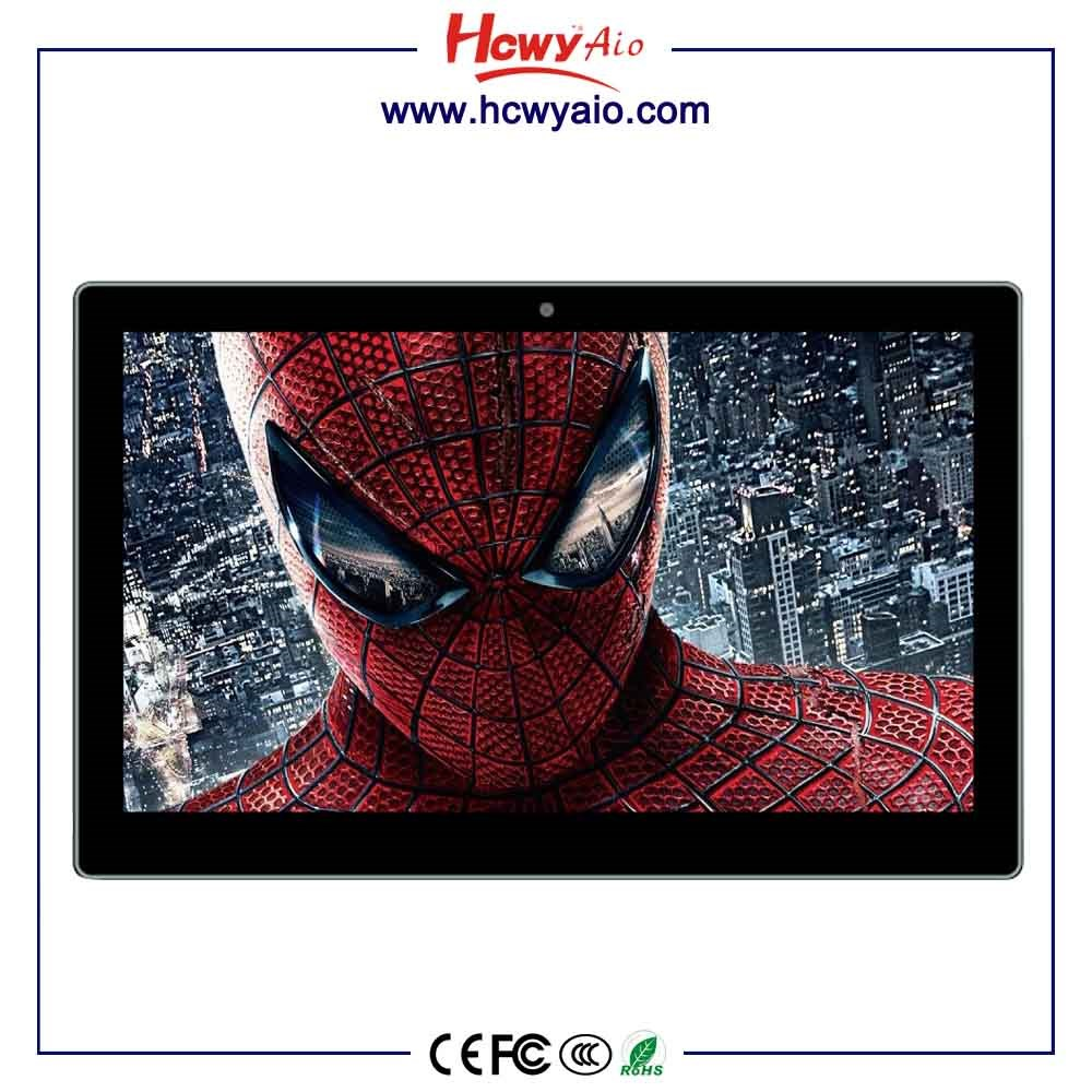 "27"" Wall Mount Interactive Touch LCD Advertising Equipment Android 4.4 os LCD Video Display Monitor with wifi rj45"
