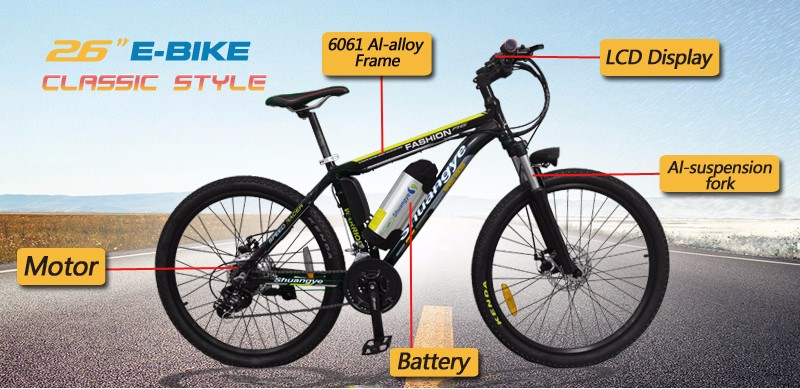 26 inch LCD downhill mountain import electric bike