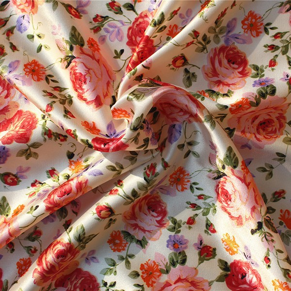 High quality satin chiffon fabric satin 100% polyester wholesale in stock