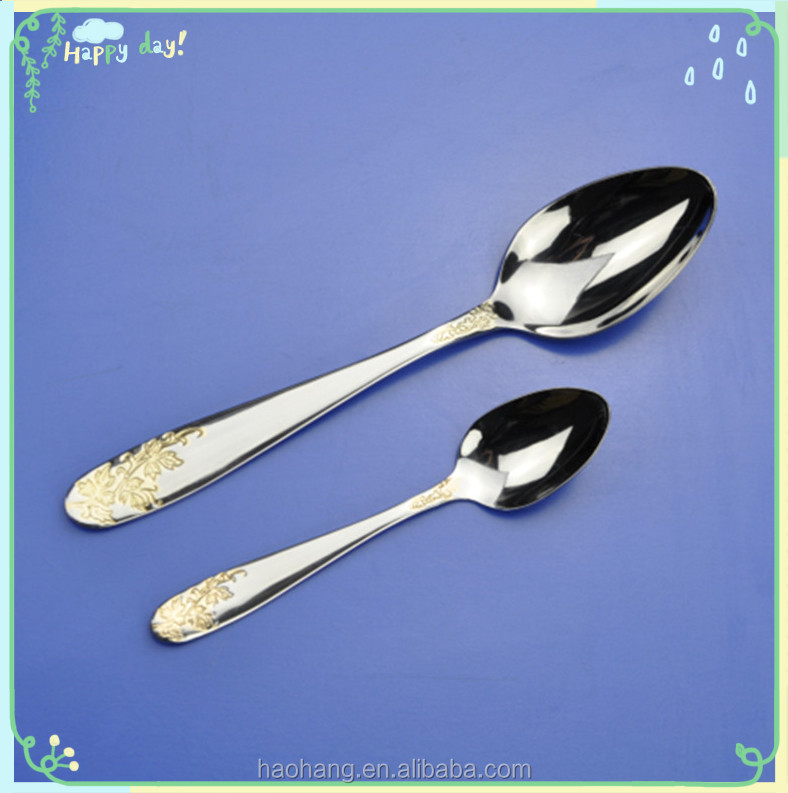Wholesale hot sale stainless steel flat spoon with good quality