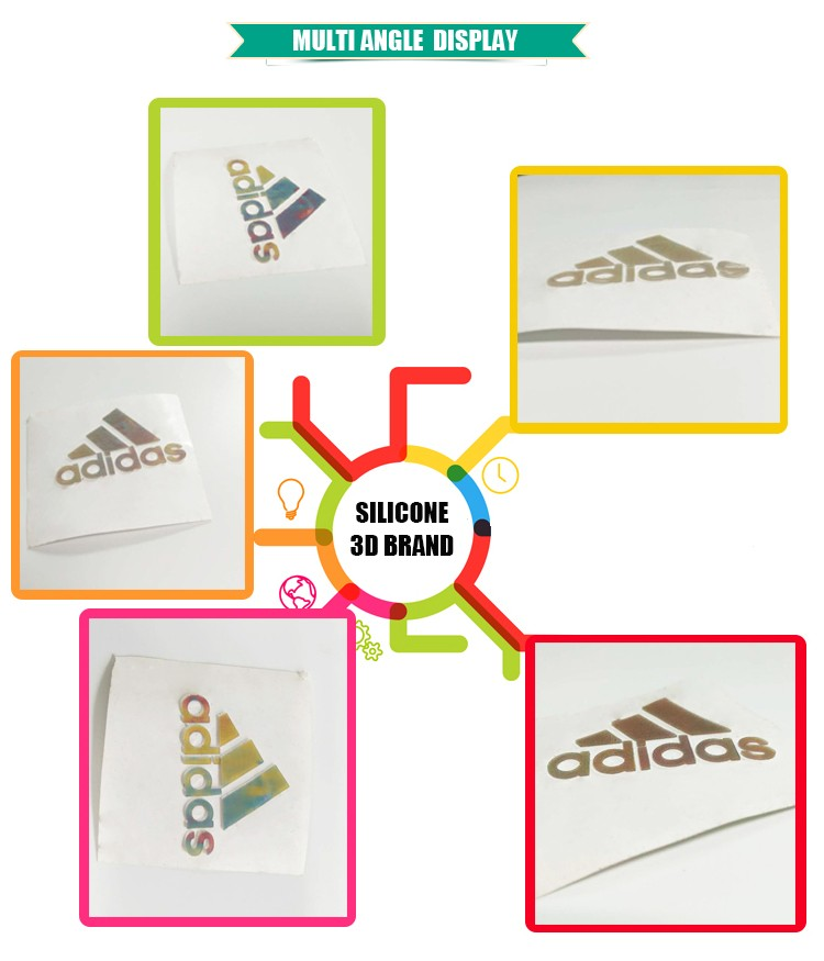 Fashionable design best quality Silicone Magic 3D brands, LOGO,clothes and shoes logo.