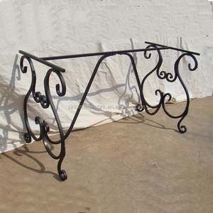 decorative steel rectangular table base metal dining table base wrought iron solid outdoor table