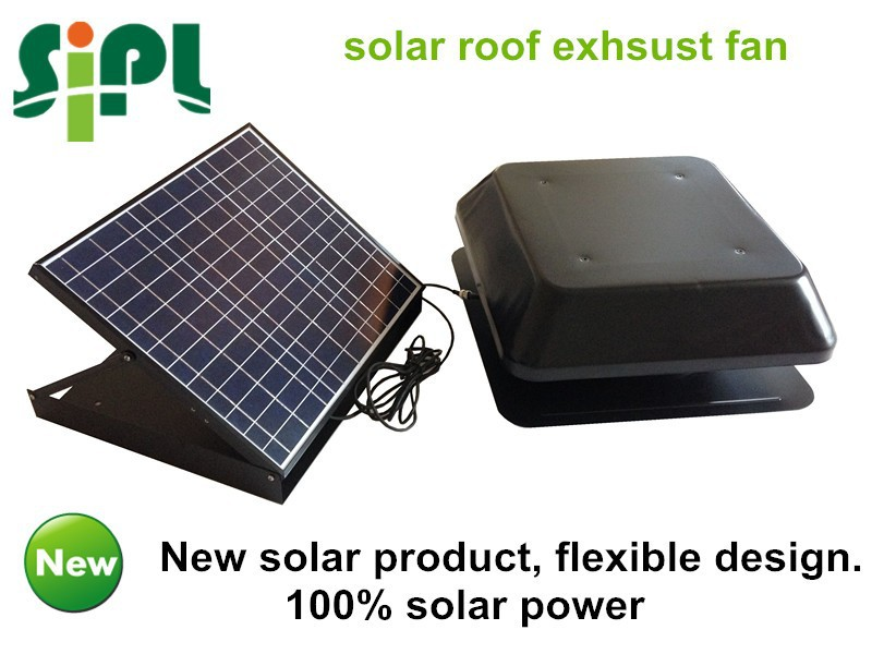 100% high efficiency solar powered roof exhaust fan (solar panel flexible design)