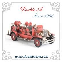 Antique fire truck model vintage car model handmade metal crafts wholesale car model