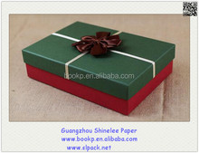 custom Candy/jewelry Gift Boxes with lid and Dot Ribbon Bow