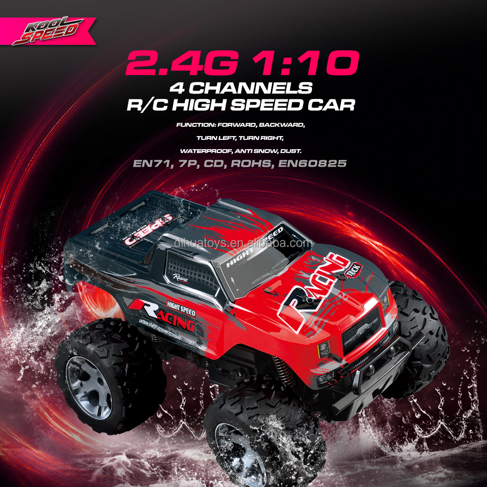 Racing Electric Truck with 2.4GHz Radio, 1/10 High Speed Scale RC Car