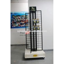 4-Faces Portable Floor Heavy Duty Rotating Display Stand Turntable