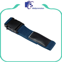 Polyester elastic luggage belt strap wholesale with plastic buckle